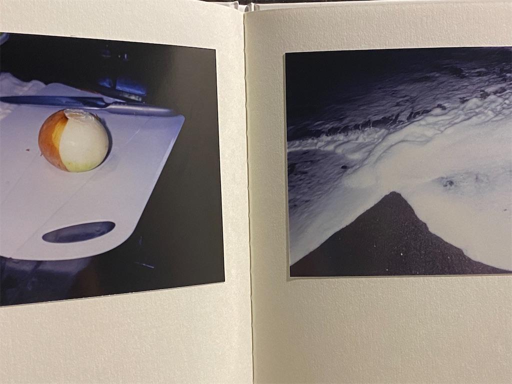 中島里菜さんにタイトルが不思議だったので質問をしたら写真集作ってたら見開きで海と玉ねぎが並んでるページがあってそこからタイトルにした、との事。