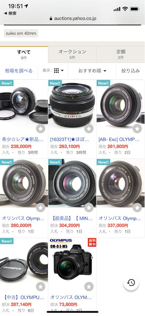 オリンパスOM-SYSTEM ZUIKO AUTO-S 40mm F2.0が6万円どころではなく20万円超え出してる!