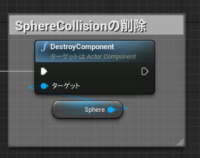 SphereCollisionの削除