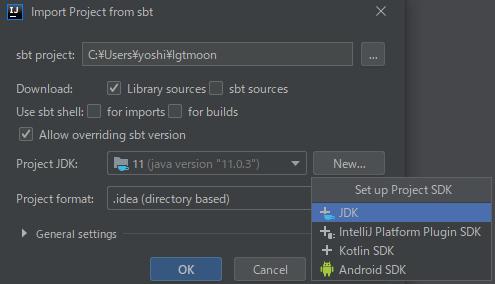 Project SDK > New > JDK