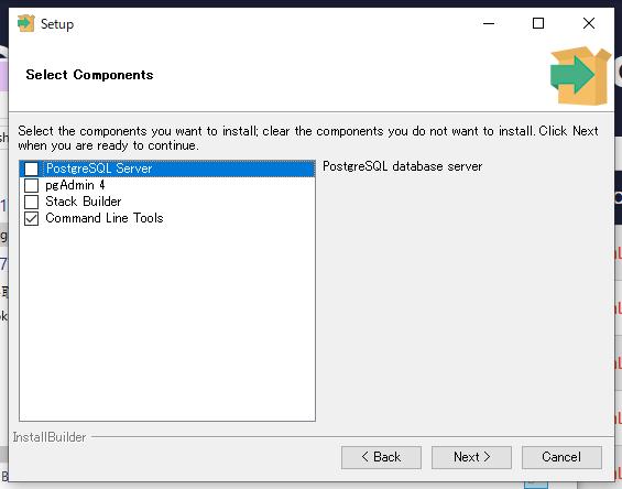 インストーラーで Command Line Tool だけを選択