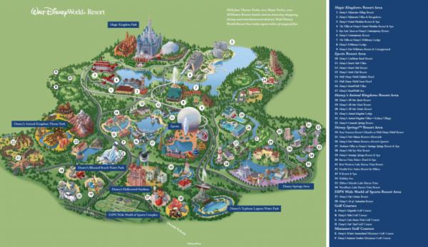 Walt Disney World のマップ