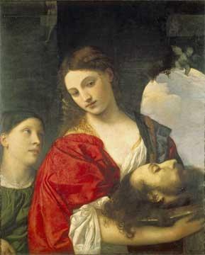 ティツィアーノ 《聖ヨハネの首を持つサロメ》  c.1515 Doria Pamphili