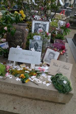 セルジュ・ゲンズブールのお墓@モンパルナス墓地