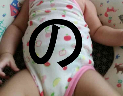 赤ちゃん便秘マッサージ「の」の字