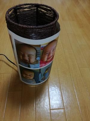 アジアンランプに細工