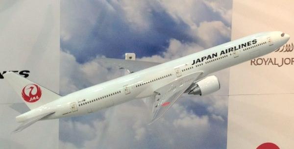 ツーリズムEXPOジャパン JAL飛行機の模型