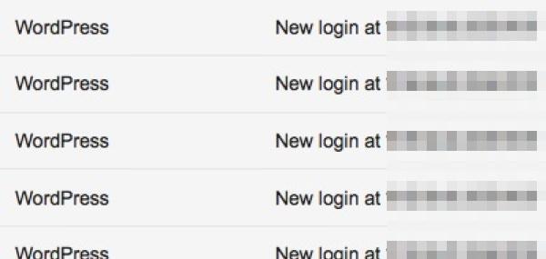 「Login Alert」から届くメール