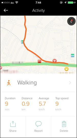 アプリ「Human」 歩いた地図の画像
