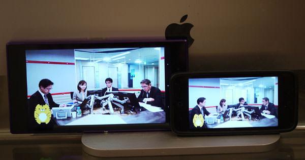 「Xperia Z Ultra」と「iPhone 5」の動画配信、画面大きさ比較