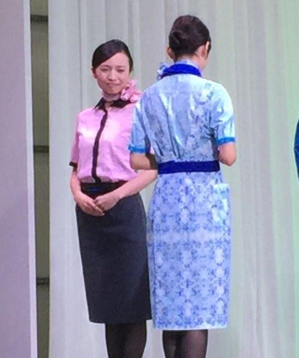 ANA新制服 10代目 エプロンの背中側画像