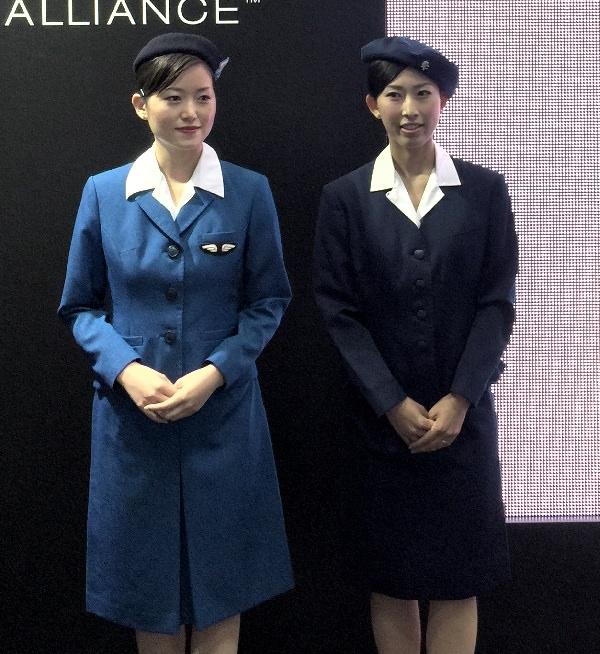 ANA歴代制服 1代目と2代目