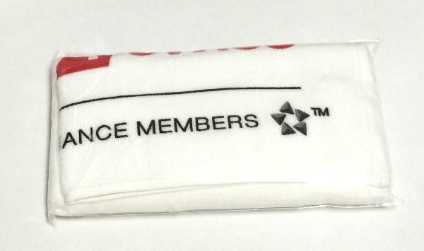 スイス インターナショナル エアラインズのタオル、裏側にはスターアライアンスのロゴ