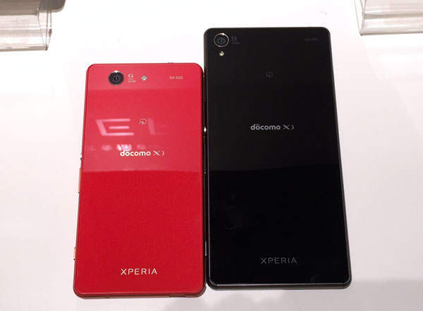 Xperia Z3 SO-01G とCompact SO-02Gのサイズ比較