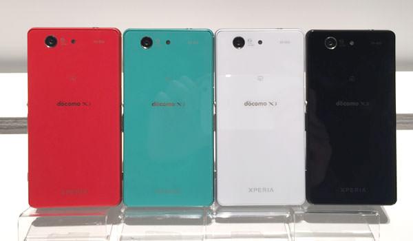 Xperia Z3 Compact 4色勢揃い