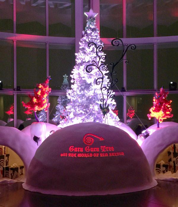六本木ヒルズ「ティム・バートンの世界」クリスマスツリー