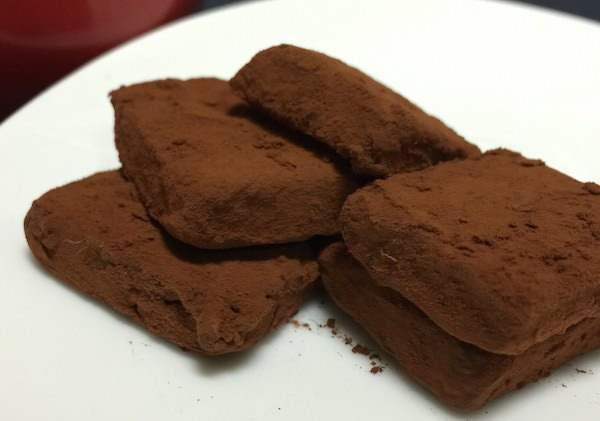 完成した生チョコレート