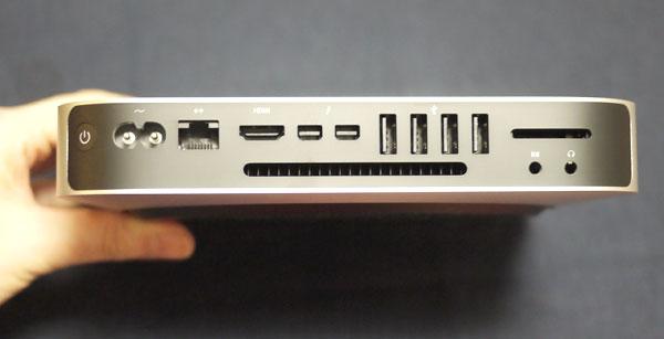 Mac mini Late 2014 背面の接続端子
