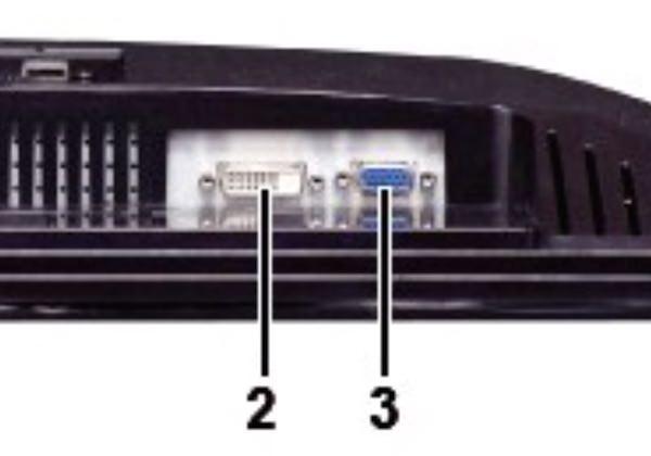 Dellディスプレイ S2209W 接続端子の図