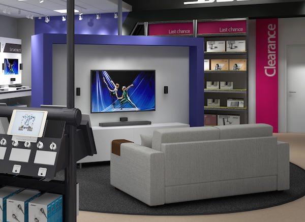 神戸 ボーズ・ファクトリーストア 店内画像3 ソファーでシアター試聴が可能