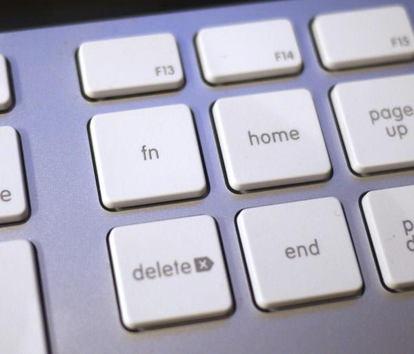 「Apple Keyboard (テンキー付き)」のHomeキーやEndキー