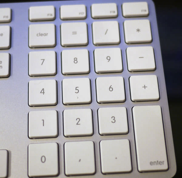 Apple Keyboard (テンキー付き)のテンキー部分