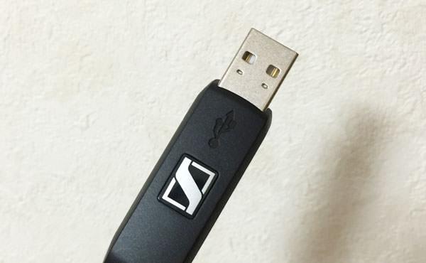 USB端子をMacに挿すだけで使用できる
