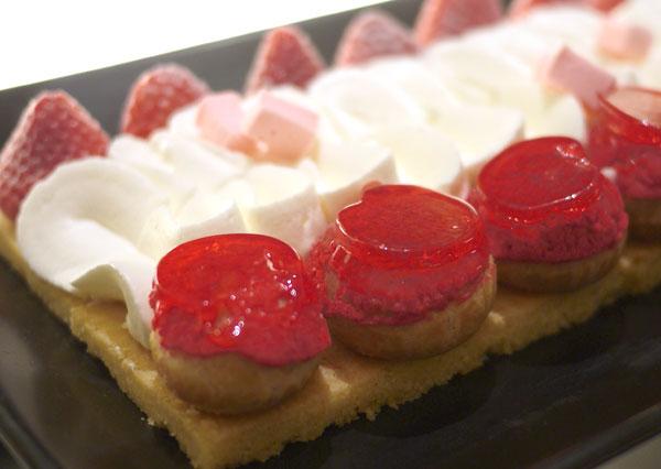 柚子とイチゴのサブレ 全体画像