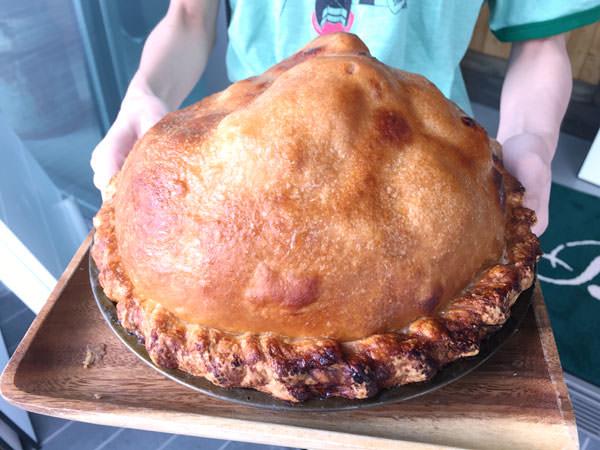 バビーズのアップルパイはりんご15個を使っている