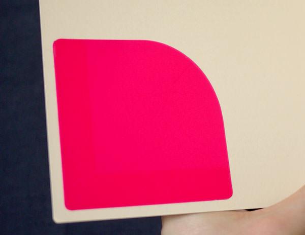表紙の裏(表2)にポケット付箋を1枚貼るだけ