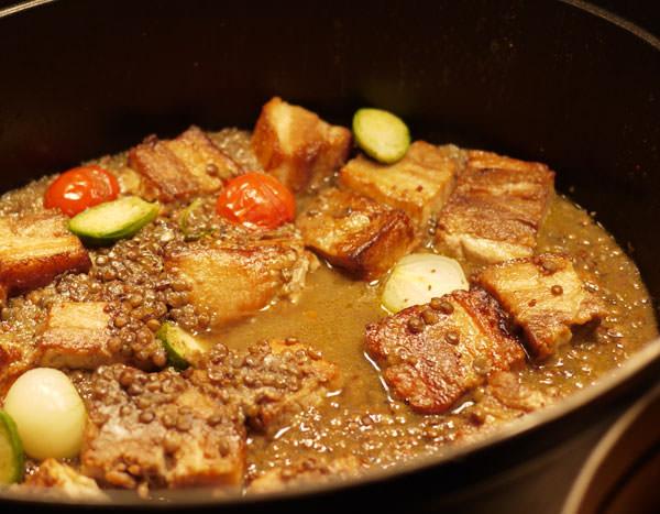 ココット料理 国産豚バラ肉のコンフィ