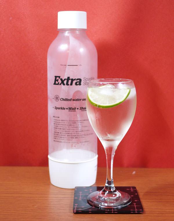 ソーダスパークルの炭酸水とスプリッツァーの画像