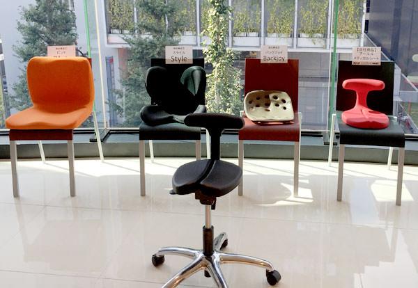 腰痛を改善する椅子4製品の画像