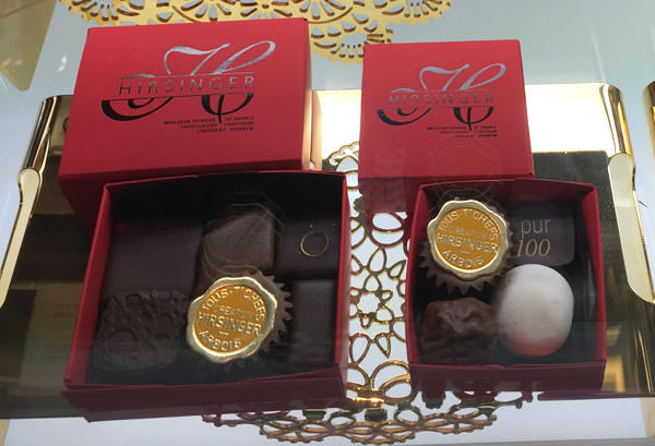 ボックスに収まったチョコレート
