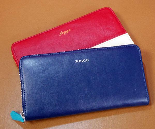 JOGGO メンズラウンドファスナー財布とレディースラウンドファスナー財布