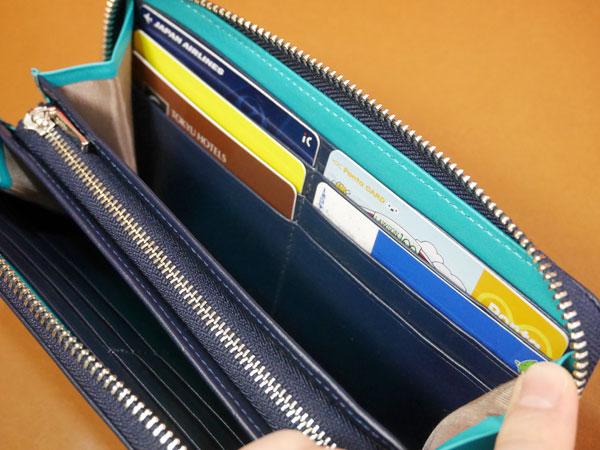 財布のカードポケットにカードを入れてみた