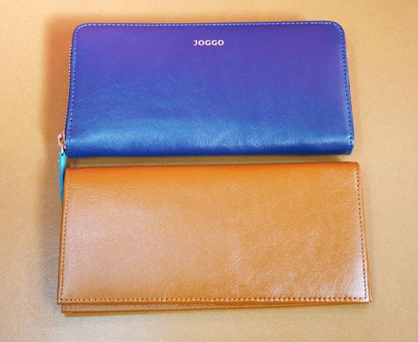 JOGGO 本革長財布をラウンドファスナー財布と大きさを比較した