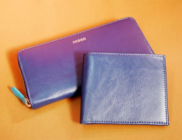 JOGGO 二つ折り財布とラウンドファスナー財布の大きさ比較