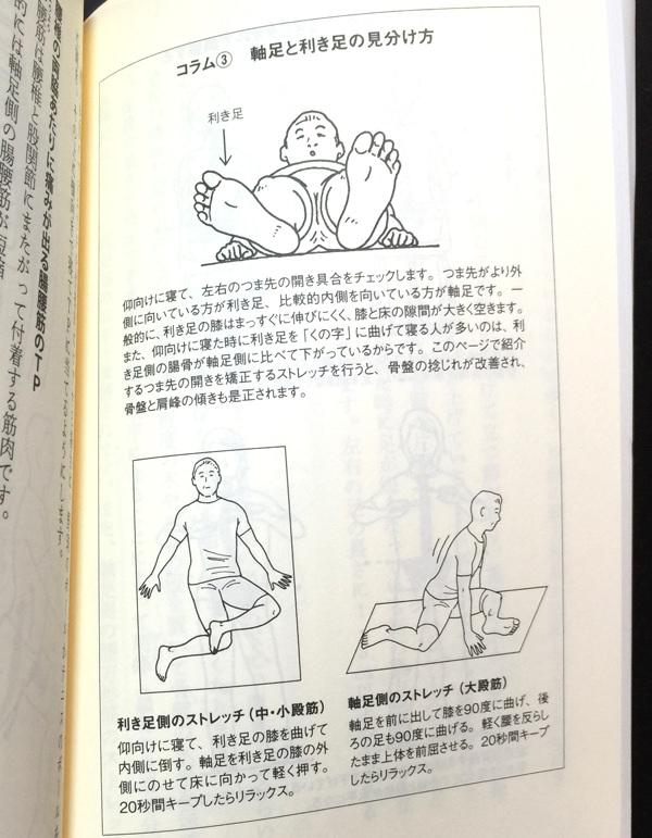 「腰痛はアタマで治す」にでていた利き足側のストレッチ