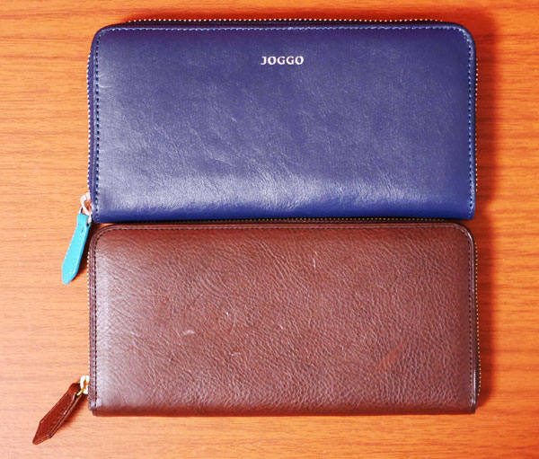 JOGGOの革財布「ラウンドファスナー財布」とココマイスター「マルティーニ クラブウォレット」