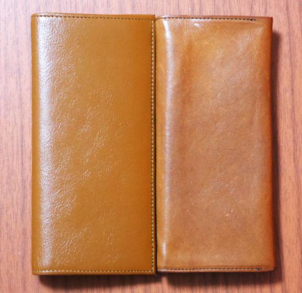 JOGGOの本革長財布とココマイスターのマットーネ マルチウォレット 大きさ比較