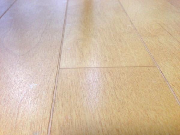 床の埃がほとんどなくなった