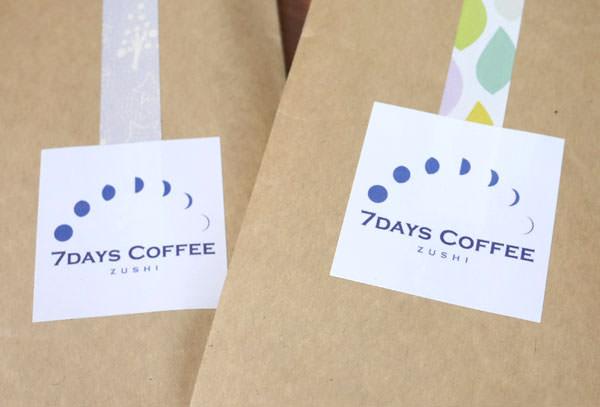 7DAYS COFFEE ロゴマークのアップ画像