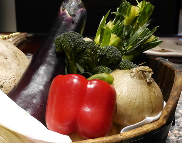 野菜が生き生きしている