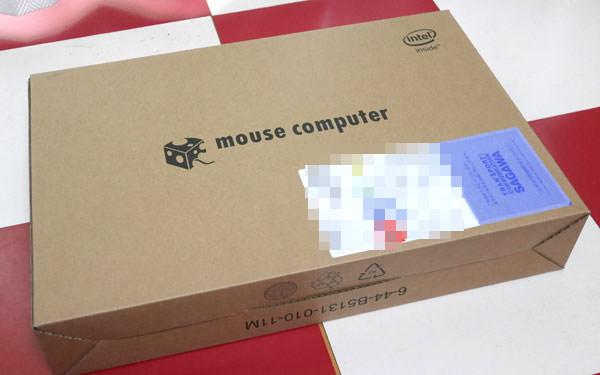 マウスコンピューター ダンボール外箱の画像