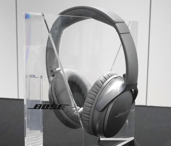 QuietComfort 35 wireless headphones シルバーモデル 全体画像