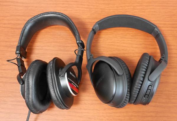 QuietComfort 35の大きさをソニー MDR-CD900STと比較してみた