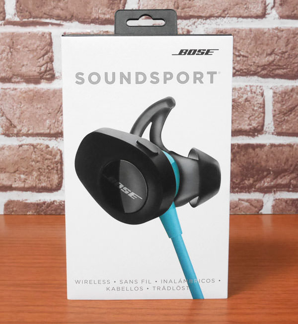 Bose SoundSport wireless headphones 商品パッケージ画像