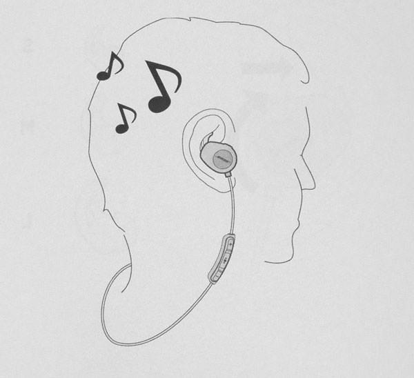 Bose SoundSport wireless headphones の装着方法 ケーブルを首の後ろに回す