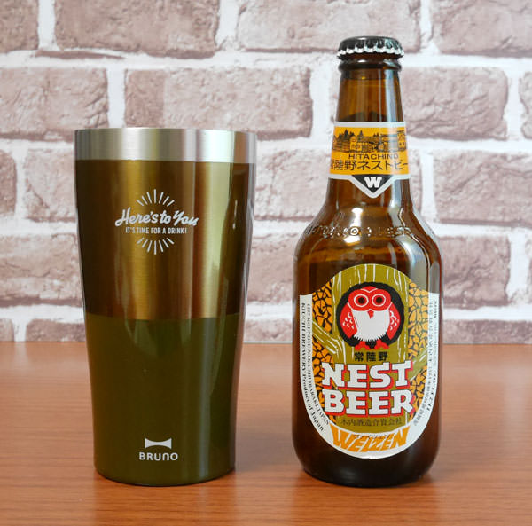 ビール瓶の大きさと比較した画像